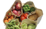 Cotton vegetable carry bag with 6 pockets