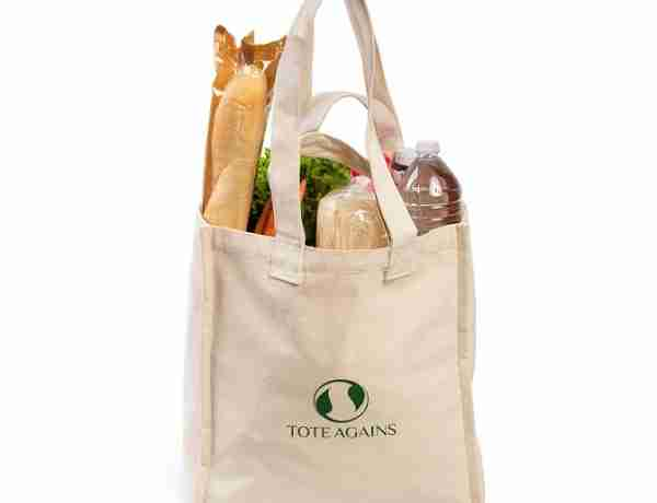 Large canvas grocery bags
