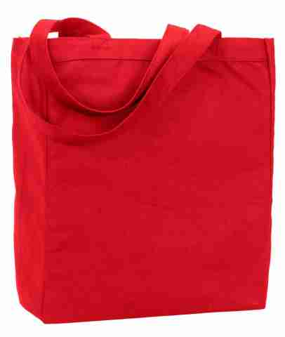 Long handle red tote bags