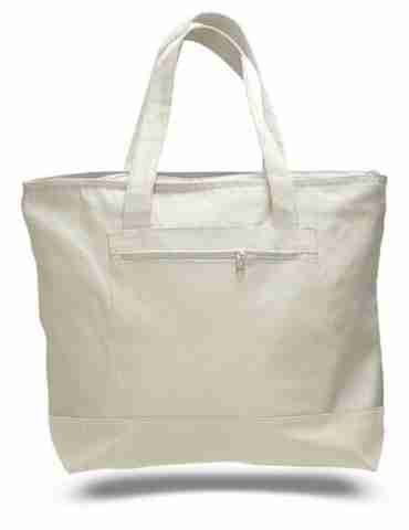 Canvas tote bags with pocket