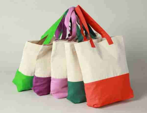 Heavy reusable canvas beach tote
