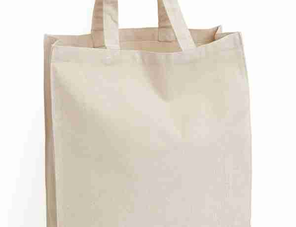 Small handle canvas tote bags