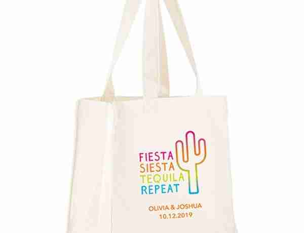 Self handle white canvas tote bags